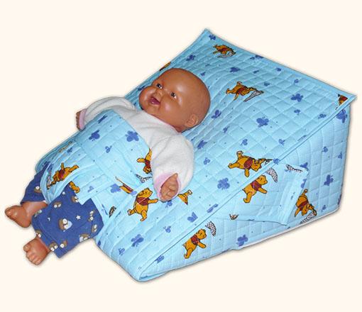 Reflux párna csecsemőknek - Kék színben
